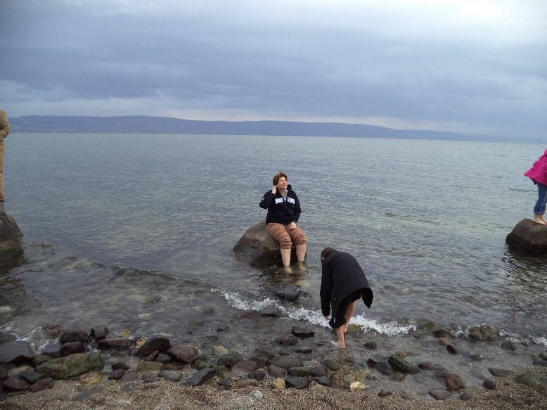 Jan at Sea of Galilee