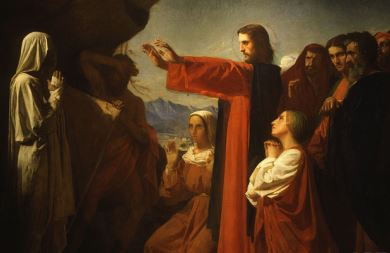 """""""Resurrection of Lazarus"""" by Leon Bonnat"""