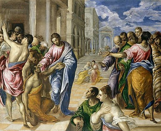 """The Miracle of Christ Healing the Blind"" by El Greco"