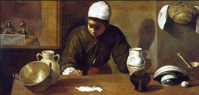 """Kitchen Maid with Supper at Emmaus"" by Diego Valasquez"