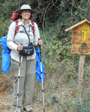 Margaret on the Camino